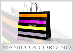 Shopper di carta personalizzati manico cordino