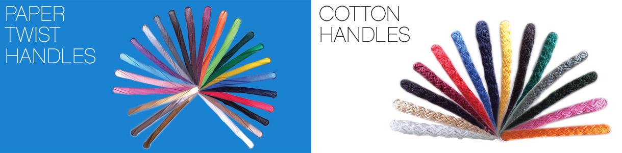 Shopper di carta con manico cordino: Manici a Cordino in Carta Ritorta e in Cotone
