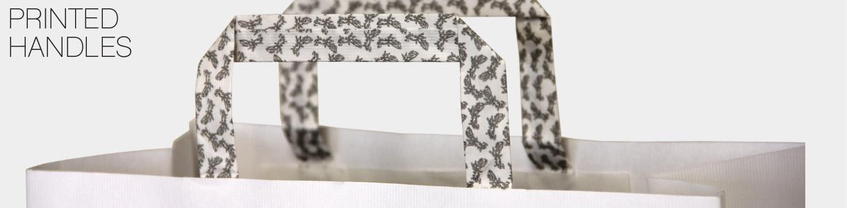Sacchetti di carta con manico piattina: Stampa sul Manico a Piattina