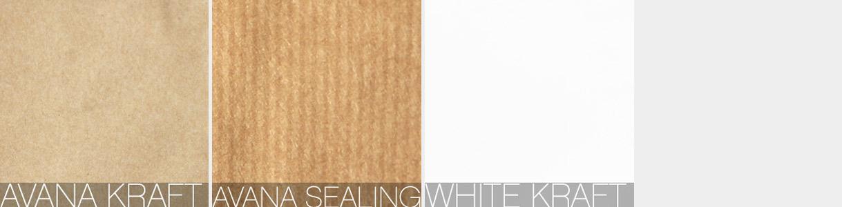 Shopper di carta con manico cordino: carte Avana Kraft, Avana Sealing, White Kraft
