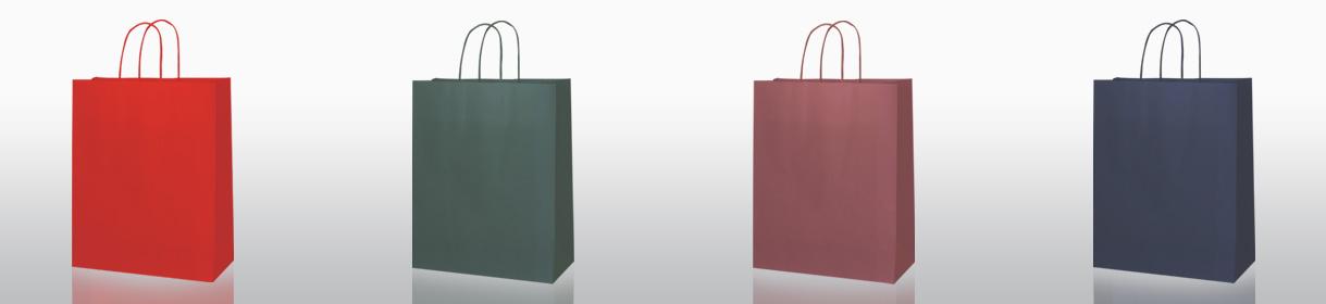 colori per sacchetti di carta generici: Rosso, Verdone, Vinaccia, Blue Navy