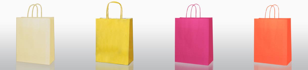 colori per sacchetti di carta generici: Crema, Giallo, Fucsia, Arancio