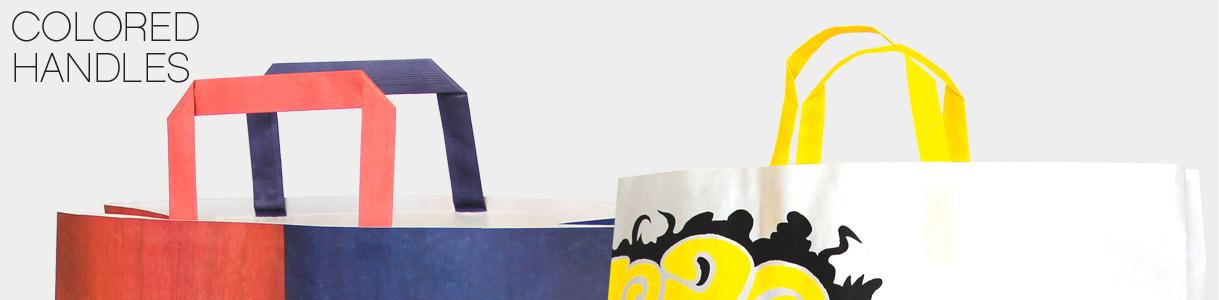 Sacchetti di carta con manico piattina: Manici a Piattina colorati