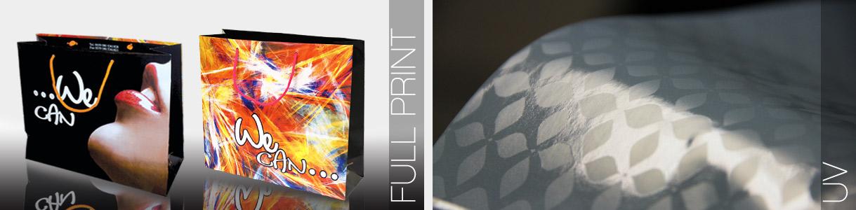 Buste di carta personalizzate semi-automatiche: stampa fondo pieno e uv